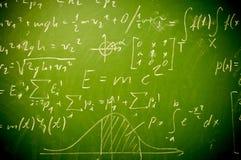 Wiskunde op bord Stock Afbeelding