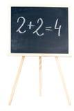 Wiskunde op een bord stock foto's