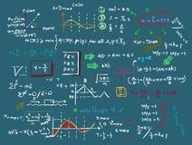 Wiskunde vector naadloos patroon Royalty-vrije Stock Afbeeldingen