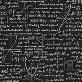 Wiskunde vector naadloos patroon met berekeningen Royalty-vrije Stock Foto's