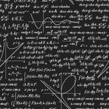 Wiskunde vector naadloos patroon met berekeningen Royalty-vrije Stock Afbeeldingen