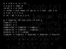 Wiskundeformule Stock Foto