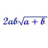 Wiskundeformule Stock Afbeelding