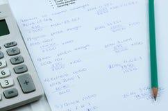 Wiskundeformule Stock Foto's