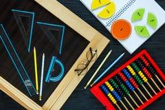 Wiskundefracties terug naar school stock foto