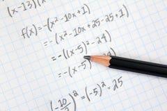 Wiskundeproblemen Royalty-vrije Stock Afbeelding
