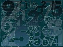 Wiskundige achtergrond Stock Afbeeldingen