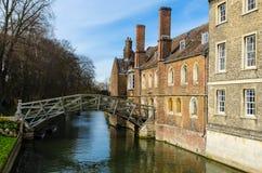Wiskundige brug op riviernok, Cambridge, het Verenigd Koninkrijk Stock Foto's