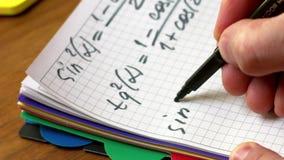 Wiskundige formule stock videobeelden