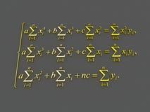Wiskundige formules Royalty-vrije Stock Afbeelding