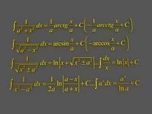Wiskundige formules Stock Foto's