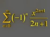 Wiskundige formules Stock Foto