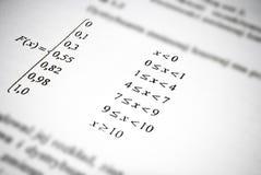 Wiskundige formules en berekeningen. Het concept van het wiskundeonderwijs. Stock Foto's