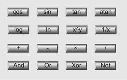 Wiskundige metaalknopen stock illustratie