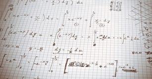 Wiskundige oefening Stock Afbeeldingen