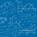Wiskundige vergelijkingen en formules vector illustratie