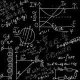 Wiskundige vergelijkingen en formules stock illustratie