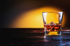 Wisky, whisky of bourbon royalty-vrije stock foto