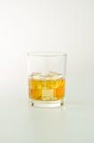 wiskyglas en ijs Stock Fotografie