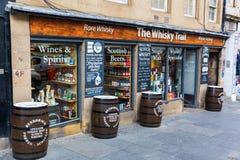 Wiskyopslag bij de Koninklijke Mijl in Edinburgh Royalty-vrije Stock Foto