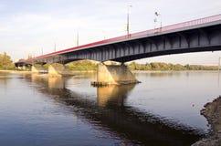 Wisla brug in Warshau Royalty-vrije Stock Afbeeldingen
