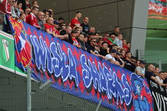Wisla Krakow fans Royaltyfria Foton