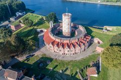 Wisloujscie Fortress in Gdansk, Poland. Aerial view Royalty Free Stock Image