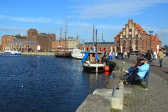 Wismar harbour Royalty Free Stock Photo