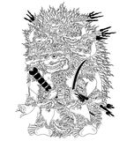 Wisnu Triwikrama. A character of traditional puppet show, wayang kulit from java indonesia royalty free illustration