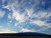 Wispy Cirrus Clouds Over Hualālai Mountain Stock Photography
