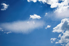 Wispy Clouds. Wispy clouds in blue sky Royalty Free Stock Photography
