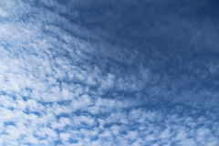 Wispy Clouds in a Blue Sky Royalty Free Stock Photos