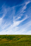 Wispy Clouds and Countryside Royalty Free Stock Photos