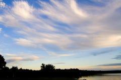 Wispy Dreamin. Sun setting on the Arkansas River Valley Royalty Free Stock Photos