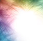 Wispy feathered rainbow colored edging border design Stock Image