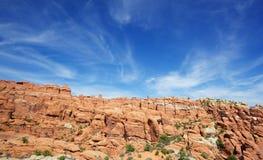 Wispy skys over Utah Royalty Free Stock Image