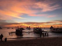 Wispy Sonnenuntergang stockfotos