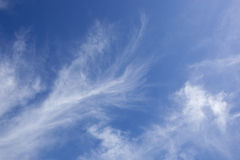 Wispy white cloud background Stock Photography