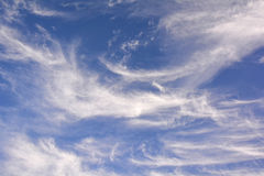 Wispy white clouds Stock Photography