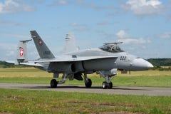 Wiss空军队F-18大黄蜂 免版税库存照片