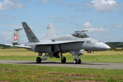 Wiss Air Force F-18 Hornet Royalty Free Stock Photos