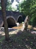 Wissahickon小河Stonebridge天桥 库存照片
