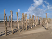 Wissant defences. World war 2 defences on the beach of Wissant Royalty Free Stock Image