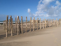 Wissant defences. World war 2 defences on the beach of Wissant Royalty Free Stock Photos