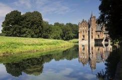 Wissekerke城堡在Bazel 库存照片