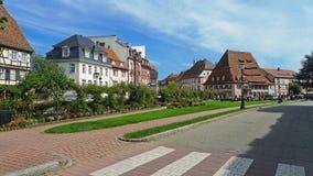 Wissembourg Francia Weissenburg Alsacia Elsass Frankreich imagen de archivo