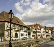 Wissembourg Häuser Stockbilder