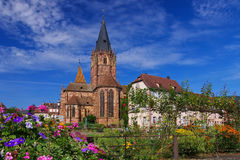 Wissembourg heilige-Pierre-et-Paul Royalty-vrije Stock Afbeelding
