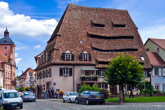 Wissembourg, Salt house. Wissembourg is a village in Alsace, France, with many very old houses. Among the most remarkable buildings in Wissembourg is the Salt Stock Images