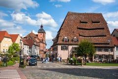 Wissembourg Town Center Near Maison Du Sel Stock Image